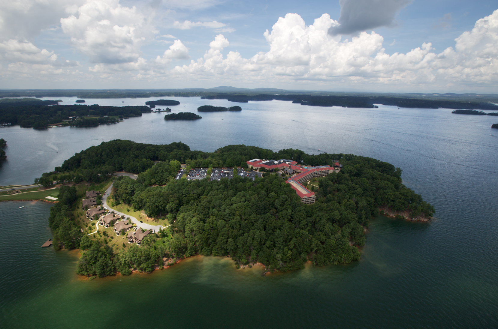 Legacy Lodge at Lanier Islands These days, two million dollars won't buy you a decent Ferrari or a home in Malibu, but it's plenty of money to spruce up the guest rooms at Lanier Islands' Legacy Lodge on Lake Lanier.