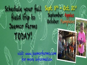 Fall Field Trips to Jaemor Farms