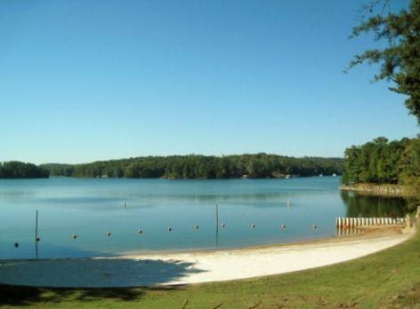 little-hall-park-beach-land-view-lake-lanier