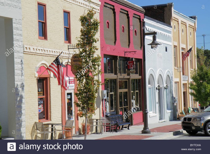 georgia-flowery-branch-small-town-community-main-street-business-cafe-BY7CHA